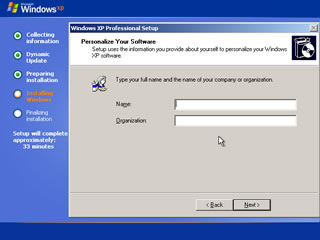 windows xp install