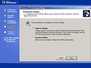 windows xp install