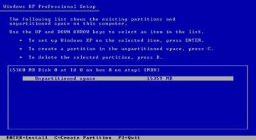 windows xp install 3