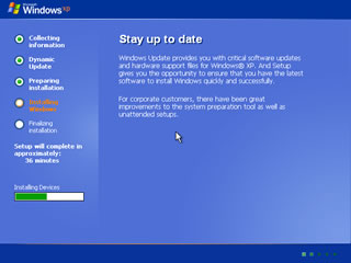 windows xp install 8
