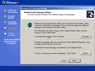 windows xp install 9